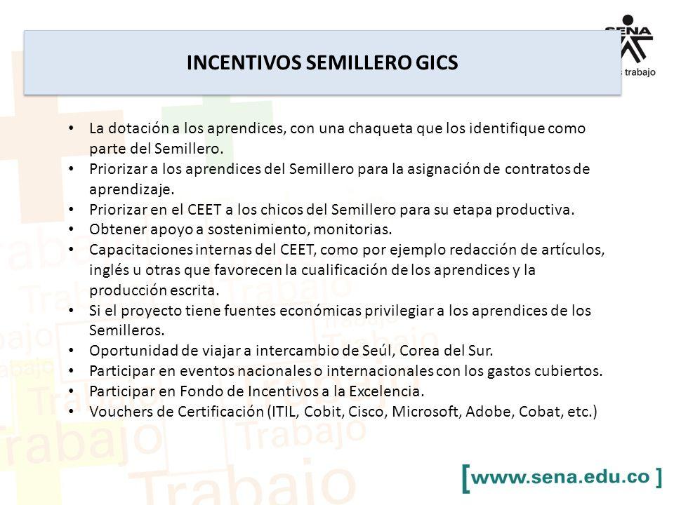 INCENTIVOS SEMILLERO GICS