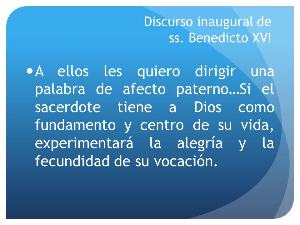 Discurso inaugural de ss. Benedicto XVI