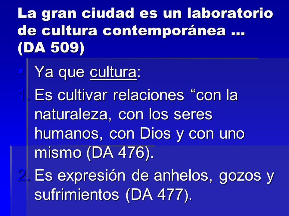 La gran ciudad es un laboratorio de cultura contemporánea … (DA 509)