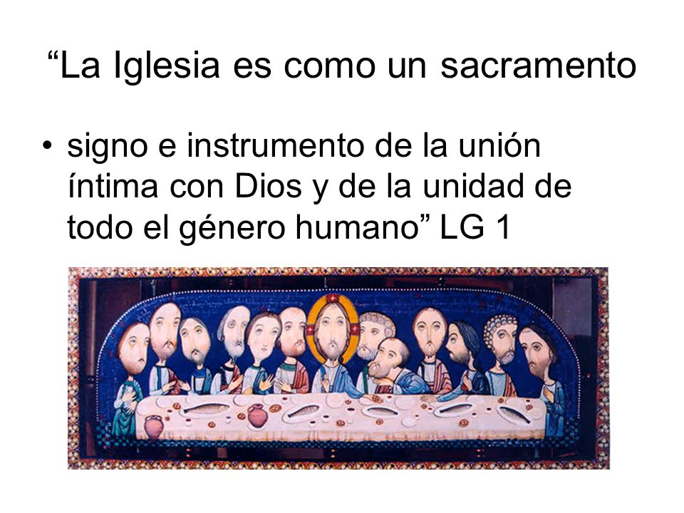 La Iglesia es como un sacramento