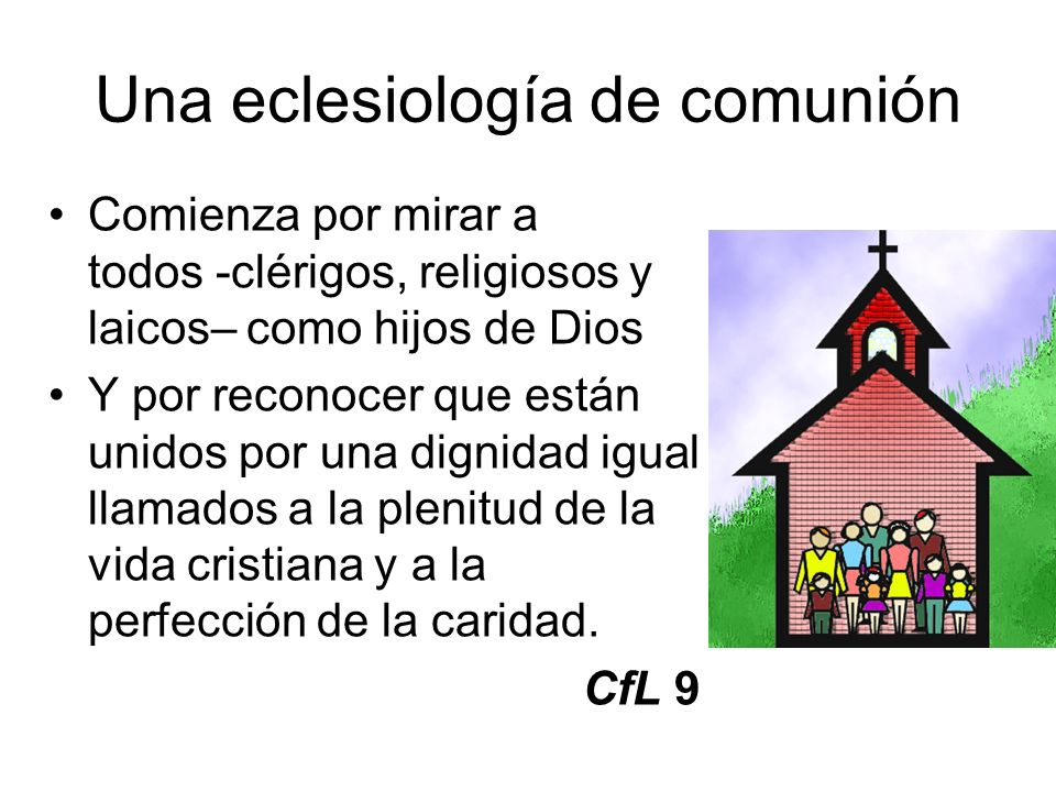 Una eclesiología de comunión