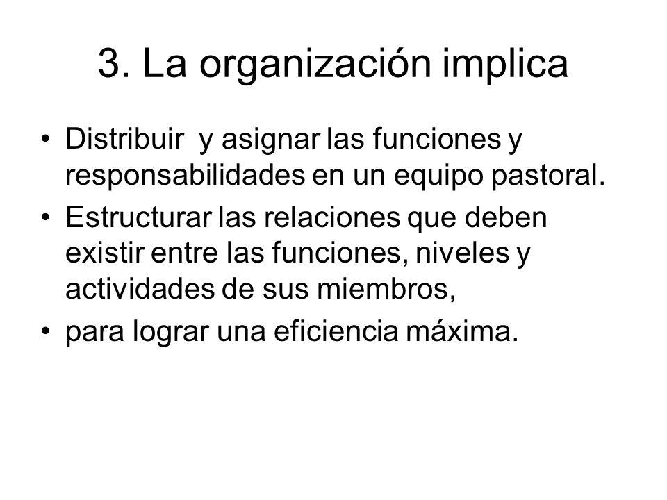 3. La organización implica