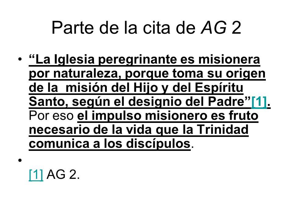 Parte de la cita de AG 2