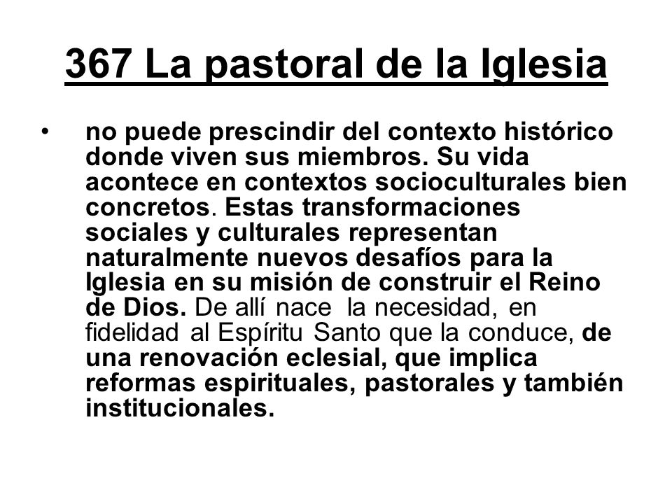 367 La pastoral de la Iglesia
