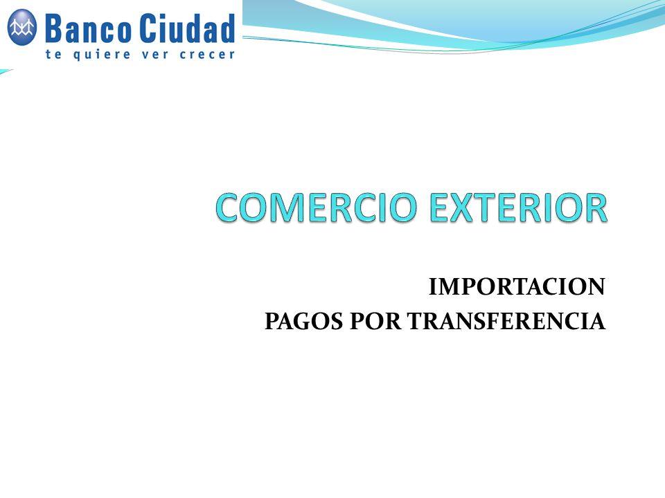 IMPORTACION PAGOS POR TRANSFERENCIA