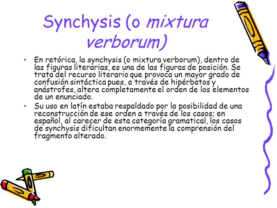 Synchysis (o mixtura verborum)