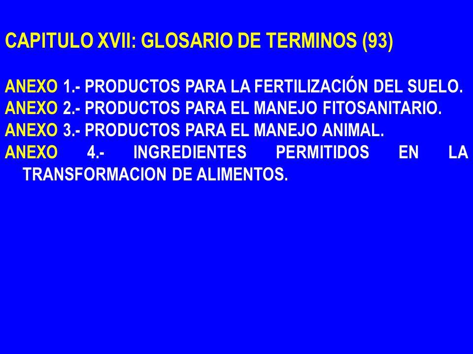 CAPITULO XVII: GLOSARIO DE TERMINOS (93)