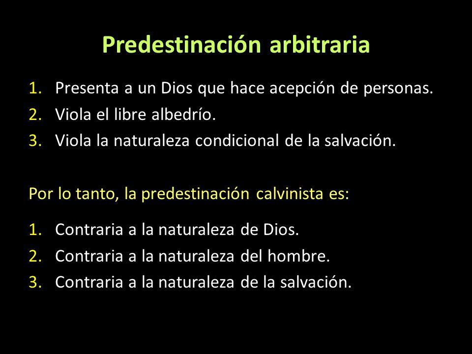 Predestinación arbitraria