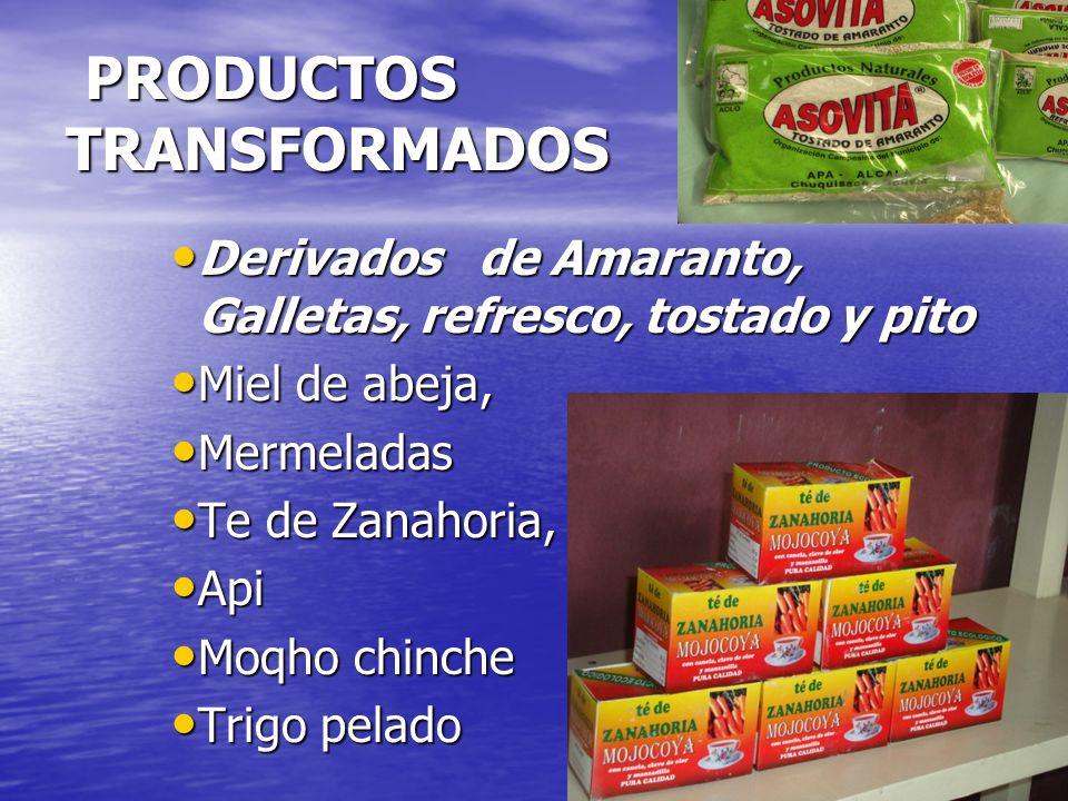 PRODUCTOS TRANSFORMADOS