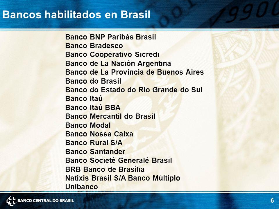Bancos habilitados en Brasil