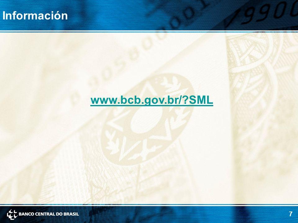 Información www.bcb.gov.br/ SML