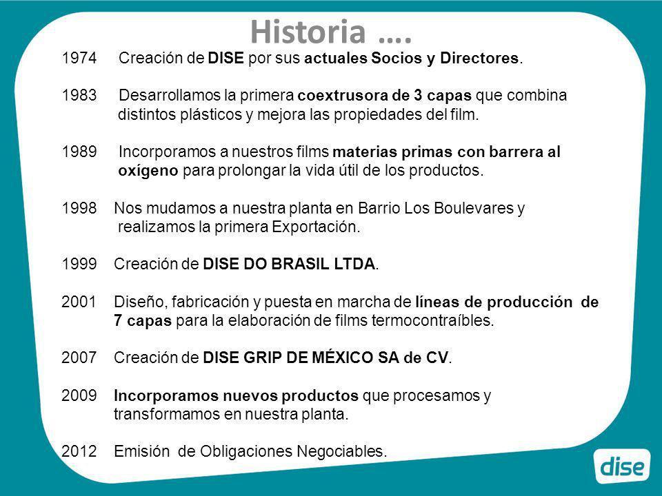 Historia …. Creación de DISE por sus actuales Socios y Directores.