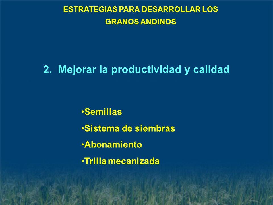 ESTRATEGIAS PARA DESARROLLAR LOS 2. Mejorar la productividad y calidad