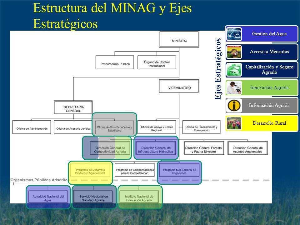 Estructura del MINAG y Ejes Estratégicos