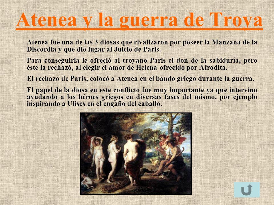 Atenea y la guerra de Troya