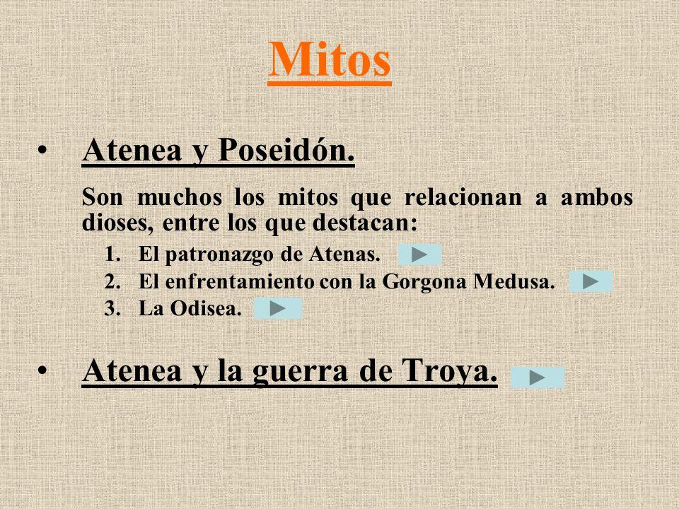 Mitos Atenea y Poseidón. Atenea y la guerra de Troya.