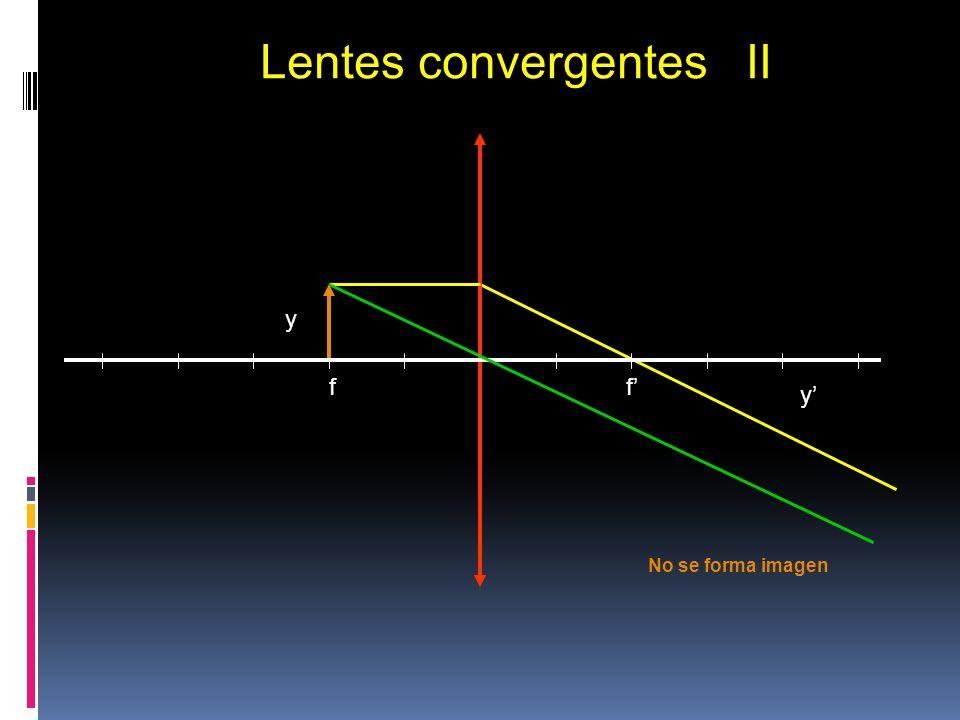 Lentes convergentes II