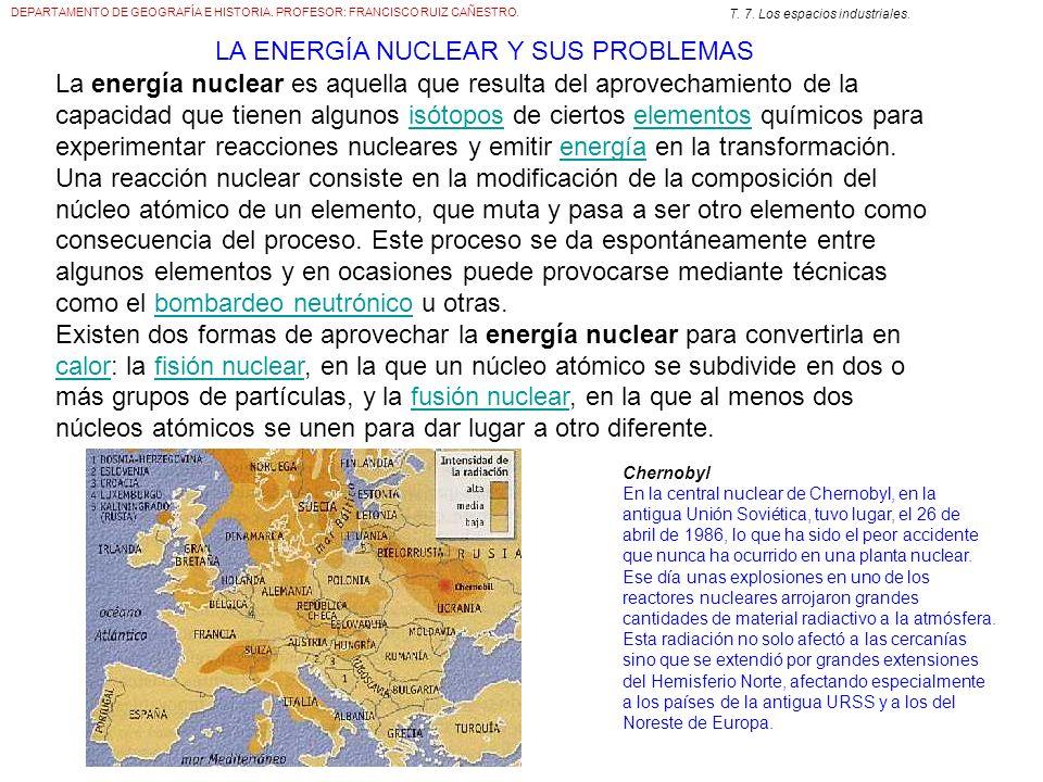 LA ENERGÍA NUCLEAR Y SUS PROBLEMAS