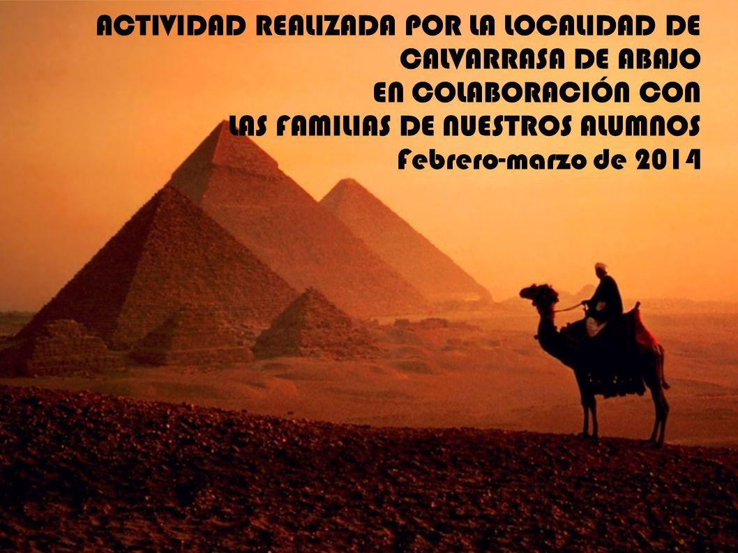 ACTIVIDAD REALIZADA POR LA LOCALIDAD DE CALVARRASA DE ABAJO EN COLABORACIÓN CON LAS FAMILIAS DE NUESTROS ALUMNOS Febrero-marzo de 2014