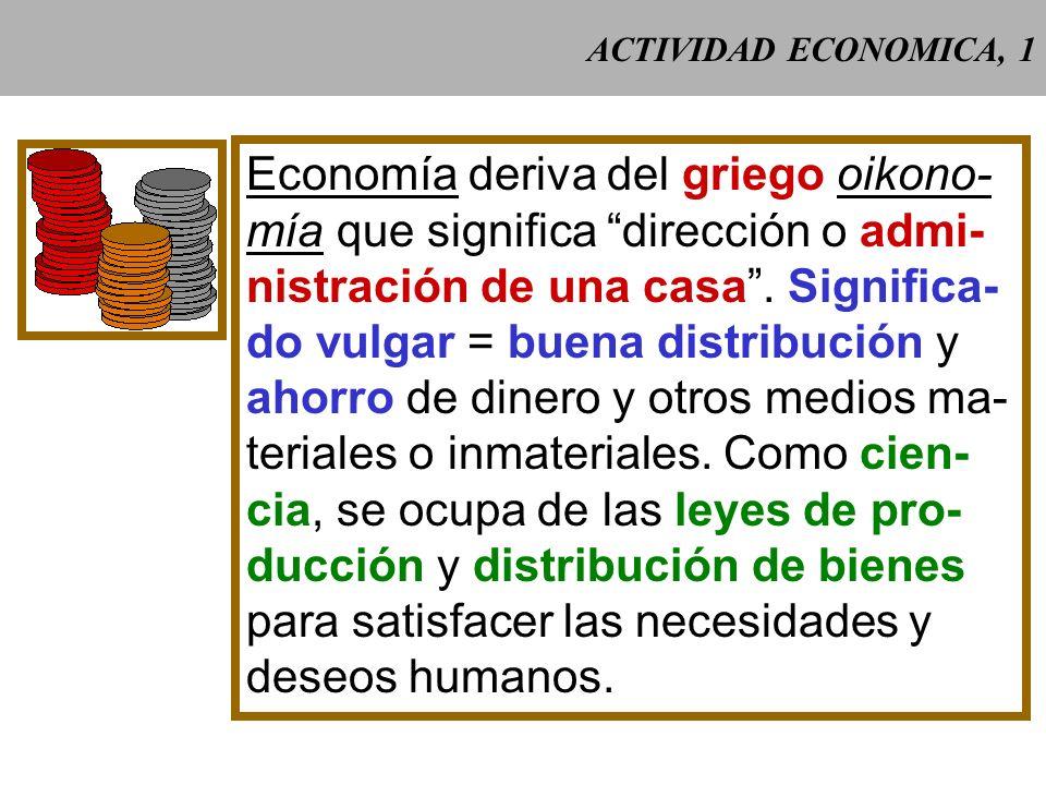 Economía deriva del griego oikono-