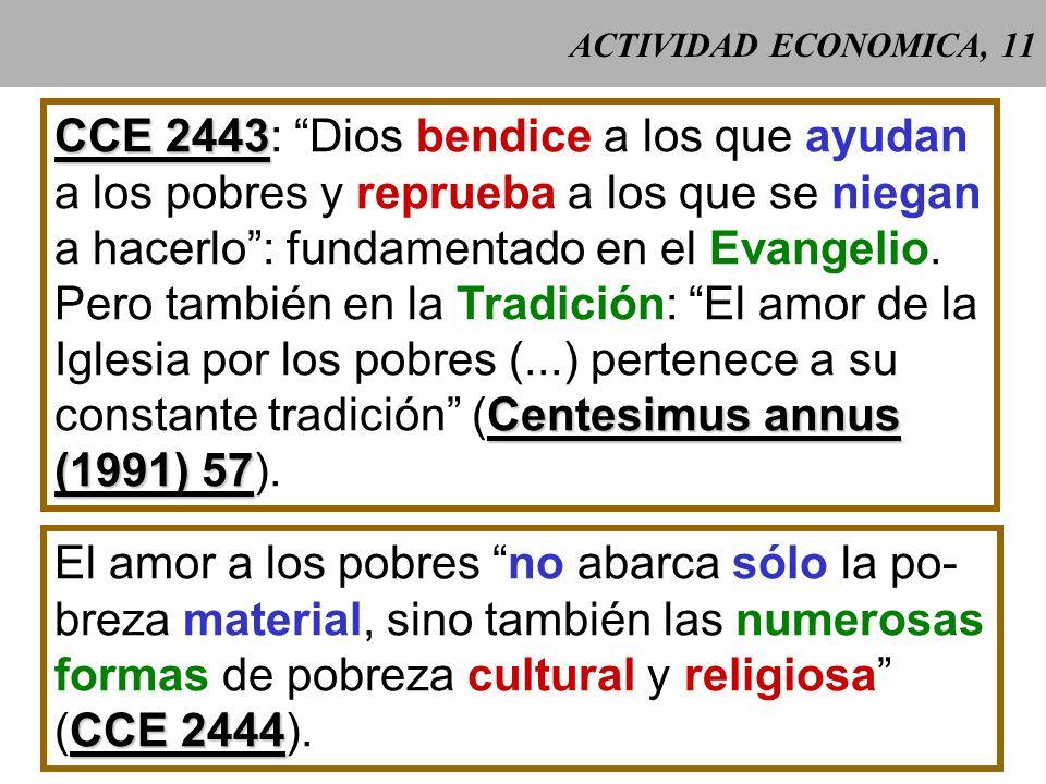 CCE 2443: Dios bendice a los que ayudan