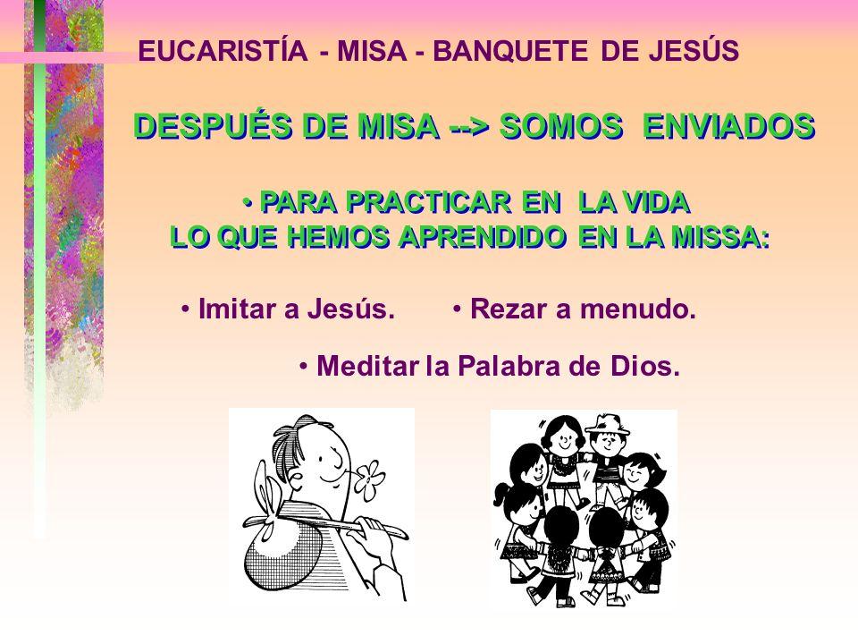 DESPUÉS DE MISA --> SOMOS ENVIADOS