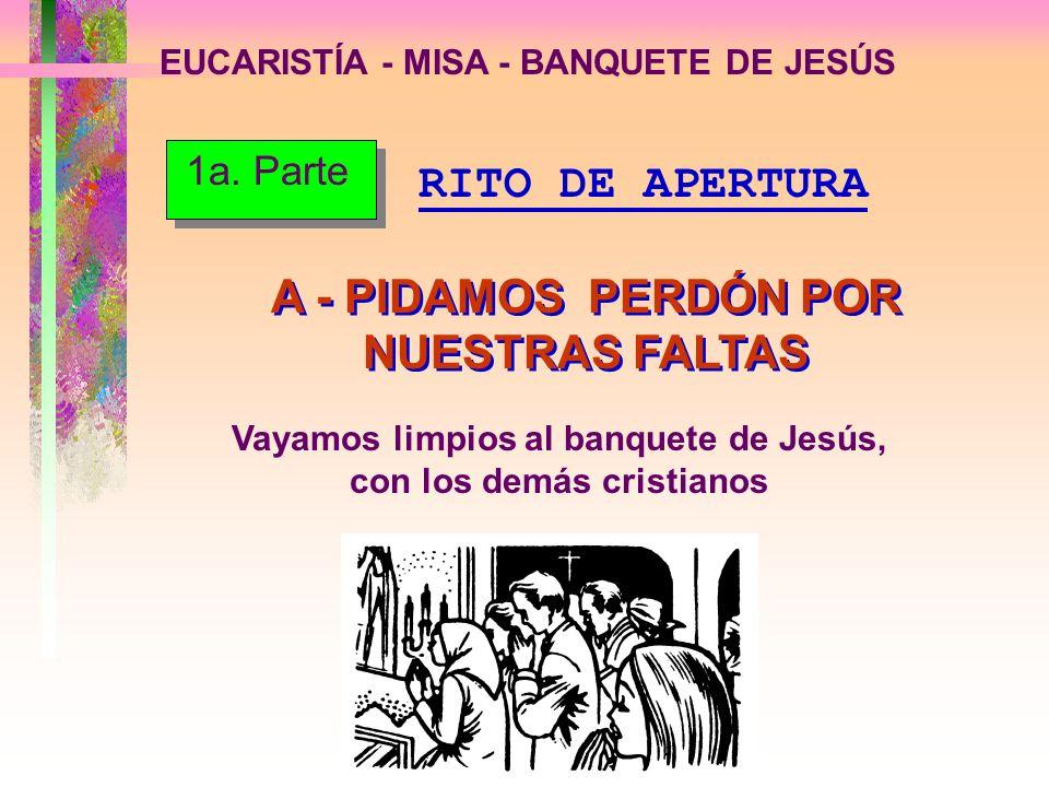 A - PIDAMOS PERDÓN POR NUESTRAS FALTAS
