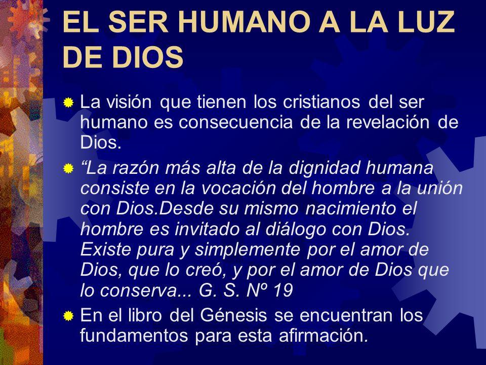 EL SER HUMANO A LA LUZ DE DIOS
