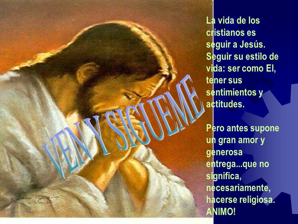La vida de los cristianos es seguir a Jesús