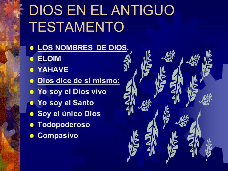 DIOS EN EL ANTIGUO TESTAMENTO