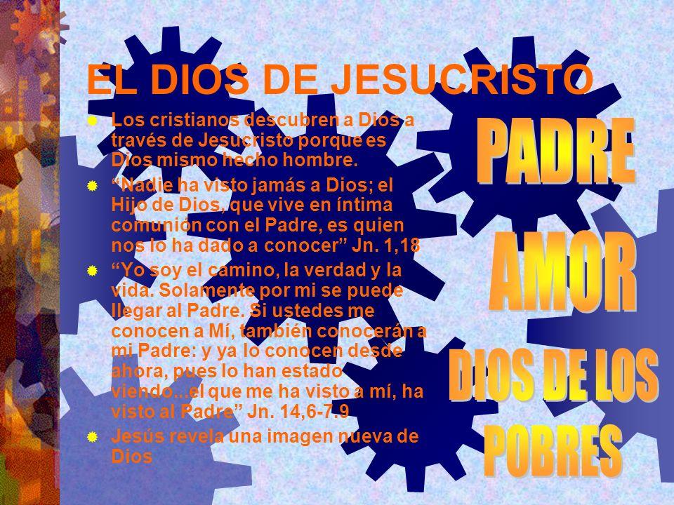 EL DIOS DE JESUCRISTO PADRE AMOR DIOS DE LOS POBRES