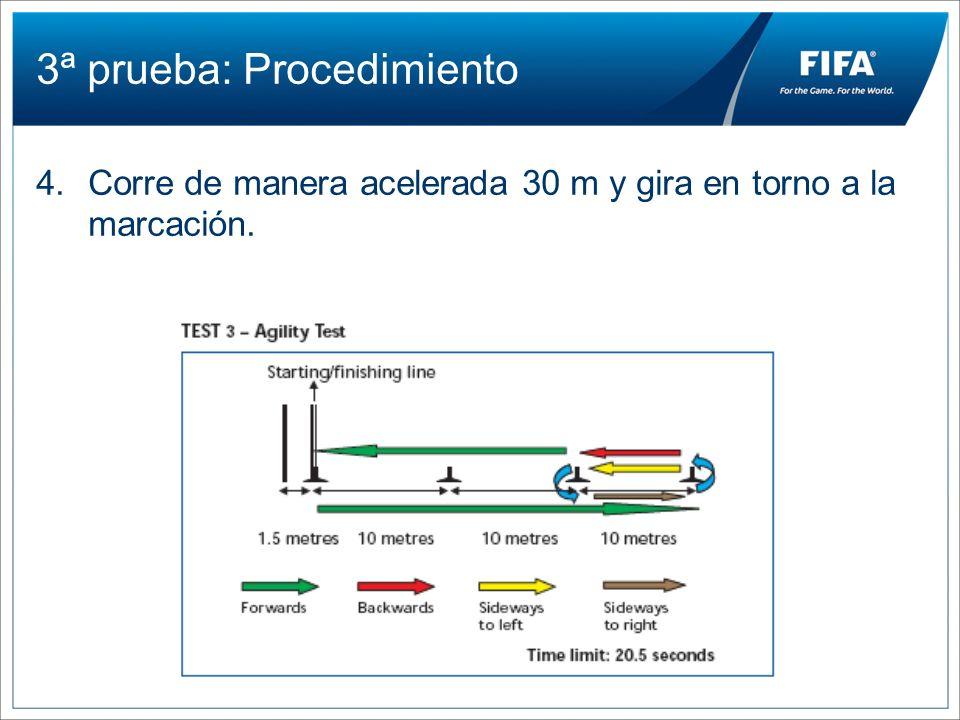 3ª prueba: Procedimiento