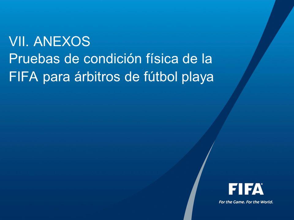 VII. ANEXOS Pruebas de condición física de la FIFA para árbitros de fútbol playa