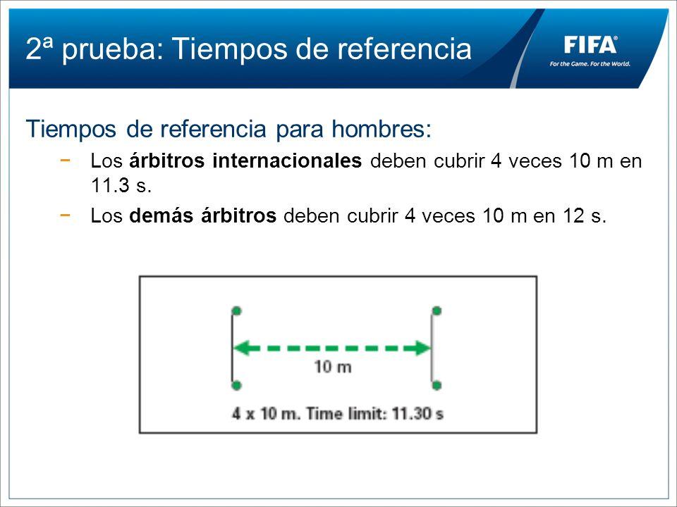 2ª prueba: Tiempos de referencia