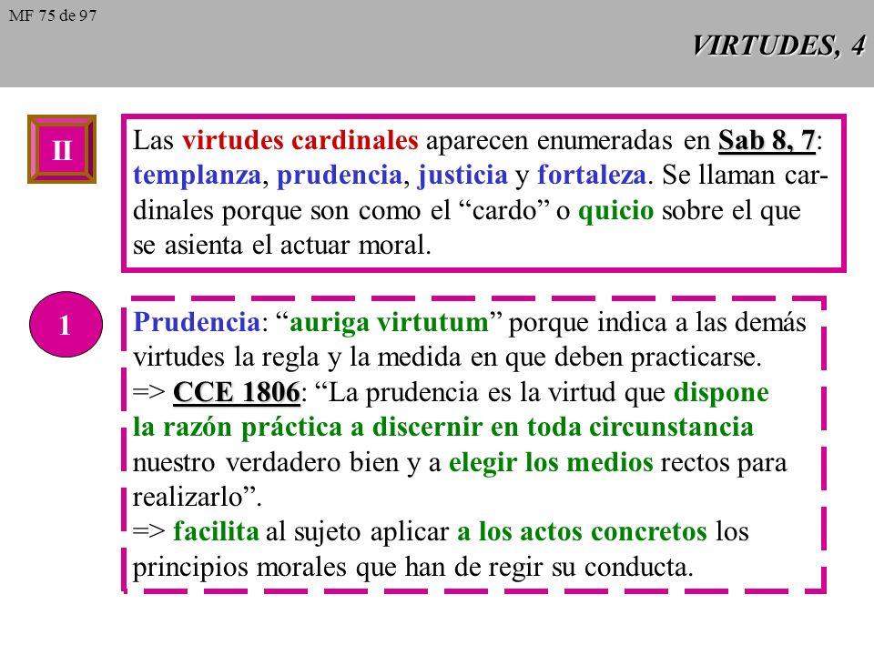 Las virtudes cardinales aparecen enumeradas en Sab 8, 7: