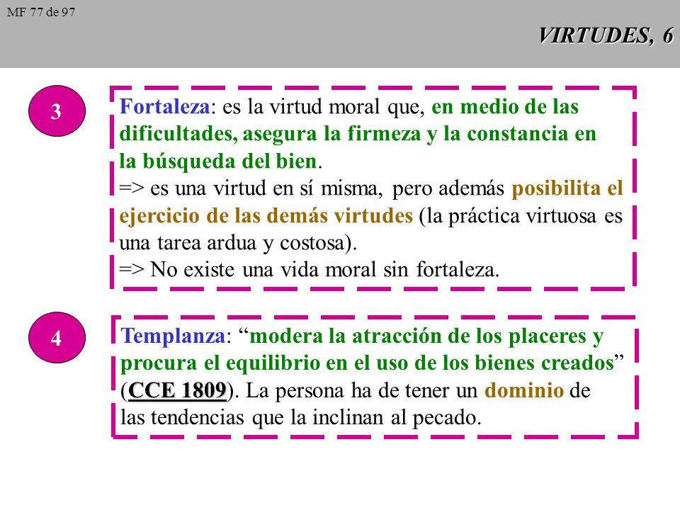 Fortaleza: es la virtud moral que, en medio de las