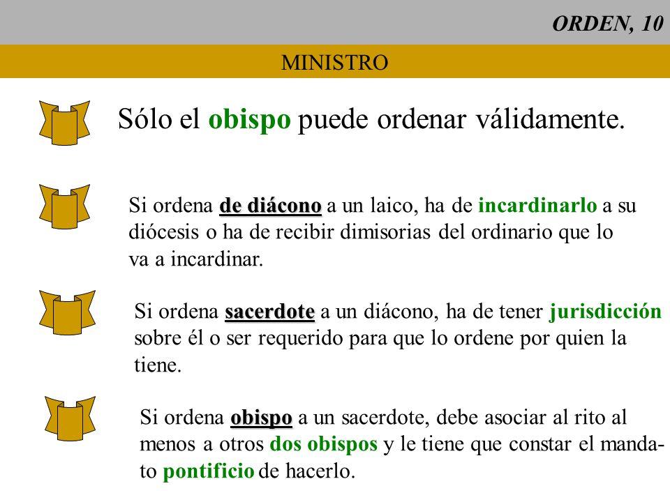 Sólo el obispo puede ordenar válidamente.