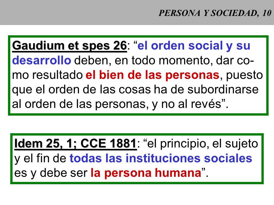Gaudium et spes 26: el orden social y su