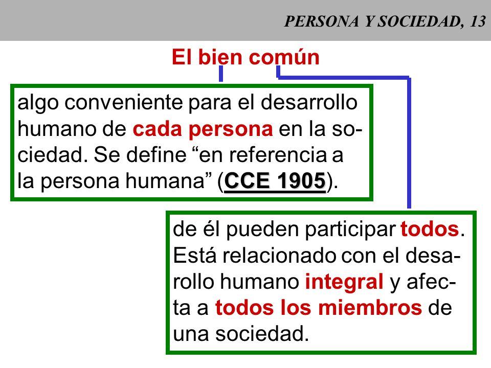 algo conveniente para el desarrollo humano de cada persona en la so-