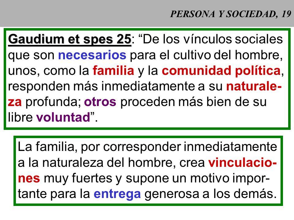 Gaudium et spes 25: De los vínculos sociales