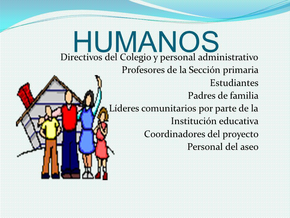 HUMANOS Directivos del Colegio y personal administrativo