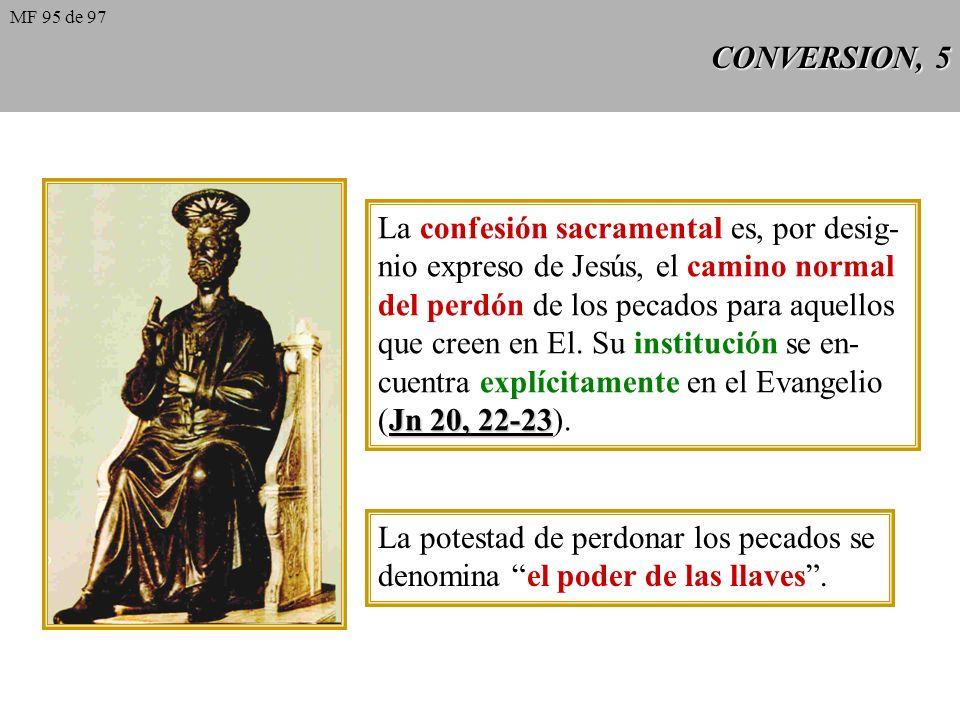 La confesión sacramental es, por desig-