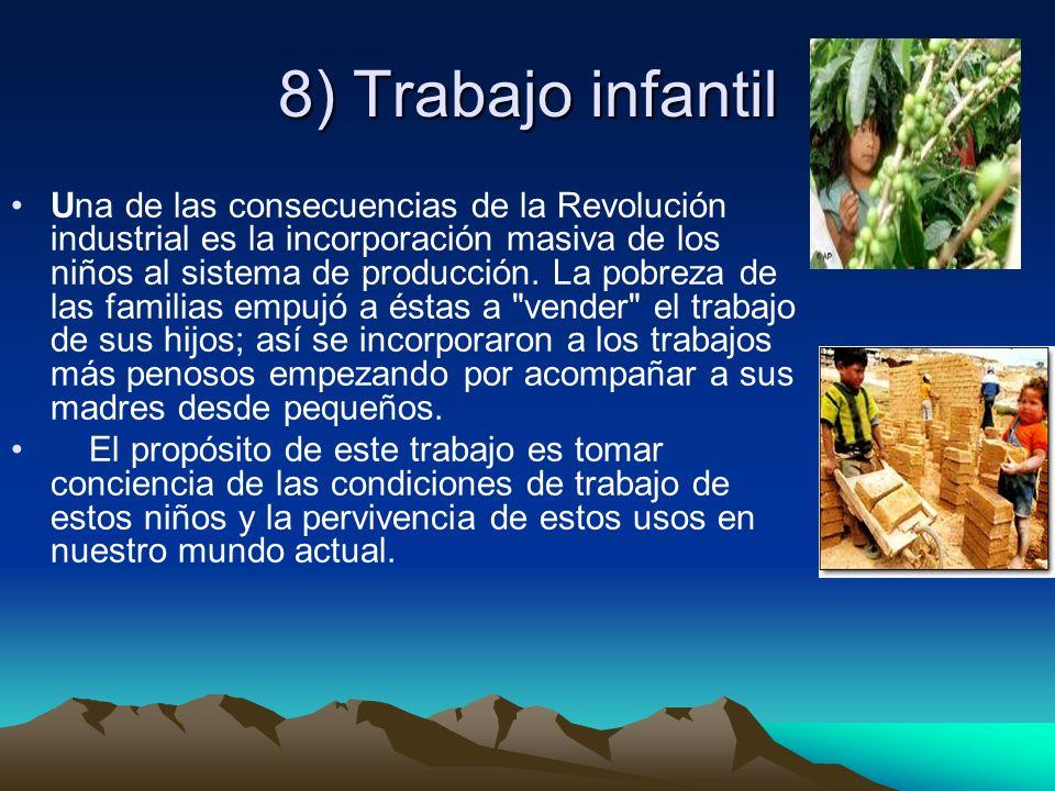 8) Trabajo infantil