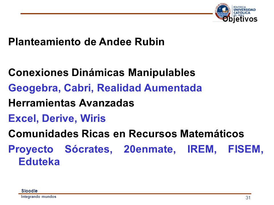 Planteamiento de Andee Rubin Conexiones Dinámicas Manipulables
