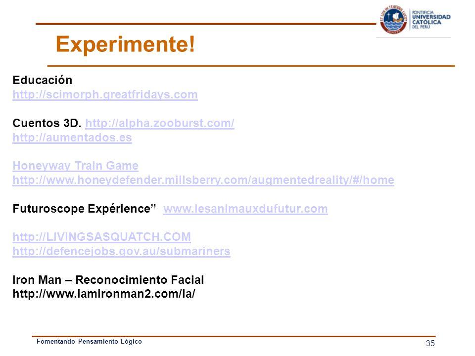 Experimente! Educación http://scimorph.greatfridays.com