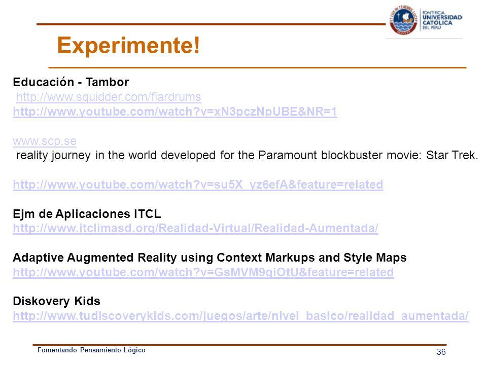Experimente! Educación - Tambor http://www.squidder.com/flardrums