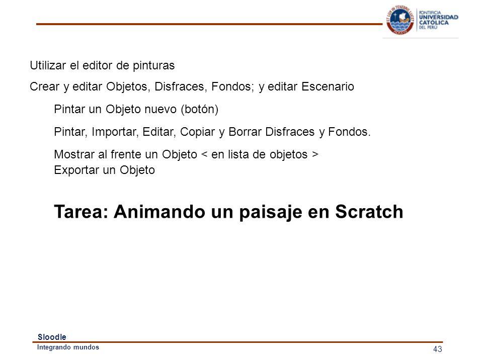 Tarea: Animando un paisaje en Scratch