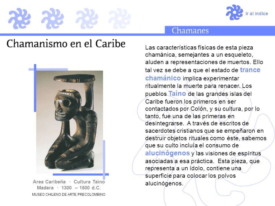 Área Caribeña · Cultura Taíno Madera · 1300 – 1500 d.C.