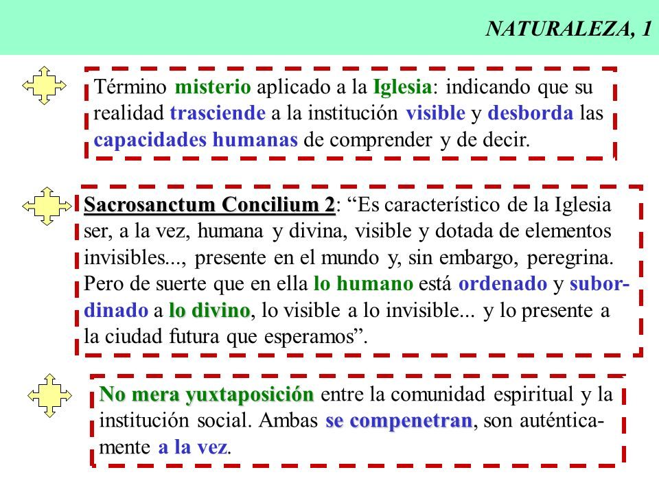 NATURALEZA, 1Término misterio aplicado a la Iglesia: indicando que su. realidad trasciende a la institución visible y desborda las.