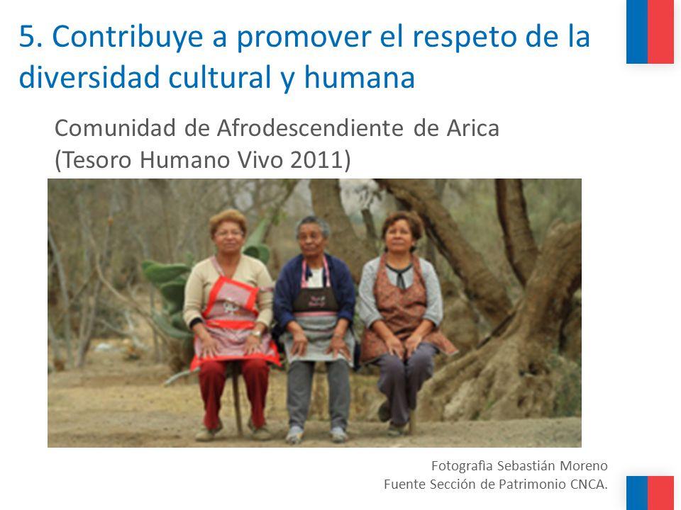 5. Contribuye a promover el respeto de la diversidad cultural y humana